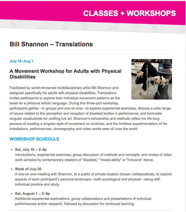 Bill Shannon Workshop